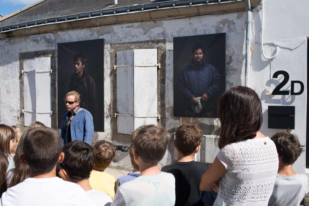 festival photo avec un groupe scolaire dans le Morbihan