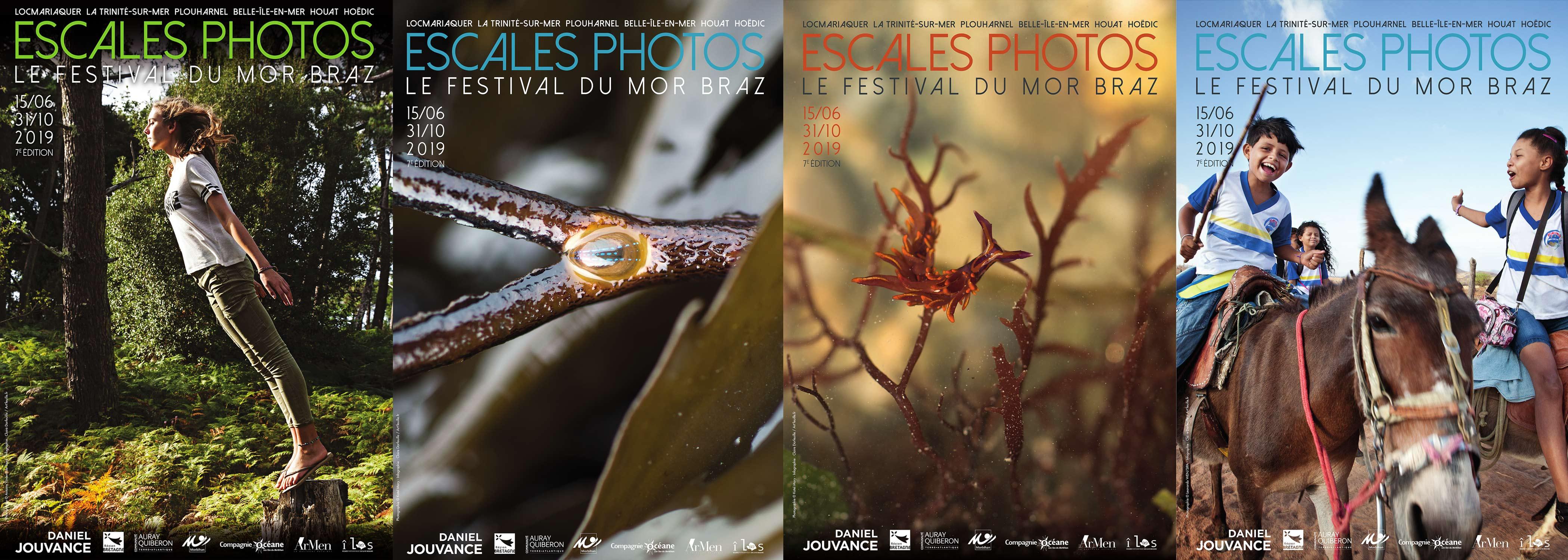 Les 4 affiches de l'édition 2019 du festival escales photos