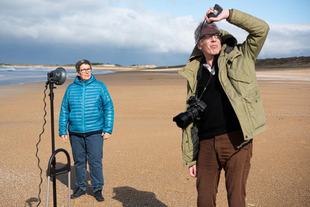 les photographes pendant le shooting de l'expo la vie ici la vie là bas